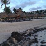 palapas and beach chairs dreams riviera cancun resort spa puerto morelos 2 km