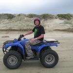 Quad biking on 90 mile beach.