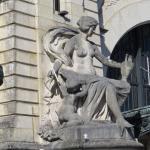 Statue visible à l'entrée de la gare de Limoges-Bénédictins