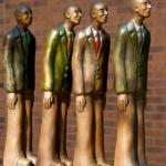 """'Queued Up"""" Kate Christopher sculptor"""