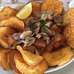 Carne de porco à alentejana com batata doce