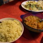 veg. curry with lemon rice