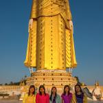Giant Standing Buddha with Visitors