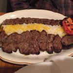 the lamb and beef kabob