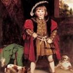 Master Crewe dressed as Henry VIII -painted bt Joshua Reynolds