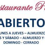Restaurante PLaza Abierto Horario