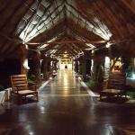 Walkway from lobby area to buffet and outdoor areas
