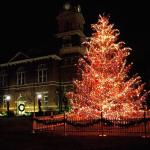 Lawrenceville Christmas Tree at Gwinnett Historic Courthouse