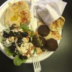 My favorite, the Mediterranean Platter