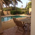 Villa patio pool area