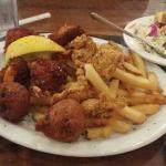 Delta Queen and Seafood- Coconut shrimp and oysters