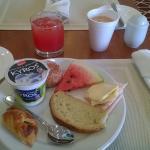Desayuno en el lounge ejecutivo del piso 11