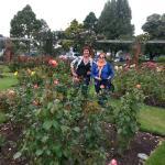 Jennifer & Mrs CJ in the roses