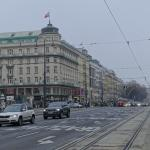 The main street of Vienna, less than 1 min walk from the hotel