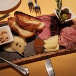 Charcuterie sampler and cheese board