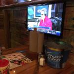 T.V. at the table