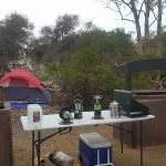 BBQ pits in group sites....this is two of the 3 cooking pits and 2 fire pits also available!