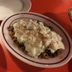 Koshari (Lentils & rice topped with yoghurt & cucumber salad)