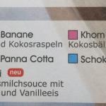 Speise-/Bestellkarte