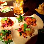 Fish Taco plate & the Top Shelf Old Fashion