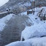 Acceso fácil con nieve