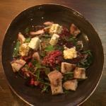 salad with wheatberry, quinoa and feta
