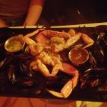 double mussels double shrimp (but where are the shrimp and who added crab?)