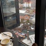 uitzicht vanuit de lounge (23e etage)