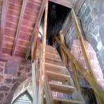 Ladder-stairs in the tower- they are steeper than they look!