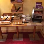 Part of the breakfast bar, plenty to have including flapjacks.
