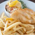 Hand dipped halibut & chips