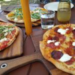Great to sit out in your beautiful garden on such a lovely day with beautiful pizza's and fantas