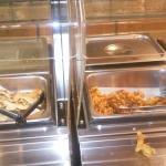 Naan and onion bhajis
