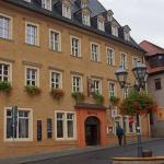 This is the entry to Hotel Graf facing the old Market Square and the Luther Statue.