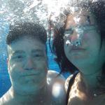 Pool underwater selfie