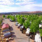 Aerial View of Spanish Trail RV Park