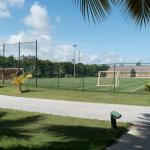 Terrain de soccer, de l'autre côté il y a un terrain de baseball
