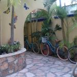 abby del sol puerto morelos botique hotel front entrance bicycles