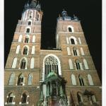 La facciata della Basilica di Santa Maria a Cracovia