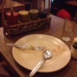 Loved the simple 'shut up and eat' table setup and the way the sauces wee served.