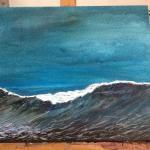 Javea sea at dusk. My painting