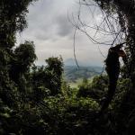 Ausblick vom Mount Bisoke