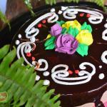 Pastel de chocolate en restaurant café lukumbé puerto vallarta