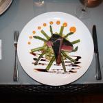 Blackened Tuna with asparagus.