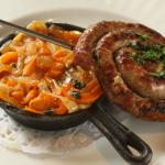 La Zingara, House-made Sausage with Orange and Yellow Pepper Saute