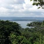 lake arenal from the deck