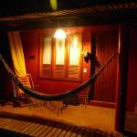 notre bungalow vue de nuit