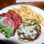 Blue Cheese Burger with Bacon & Jalapeno