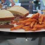 Chicken Salad Sandwich & Sweet Potato Fries