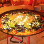 Chef's seafood paella (with chorizo) - magnificent!